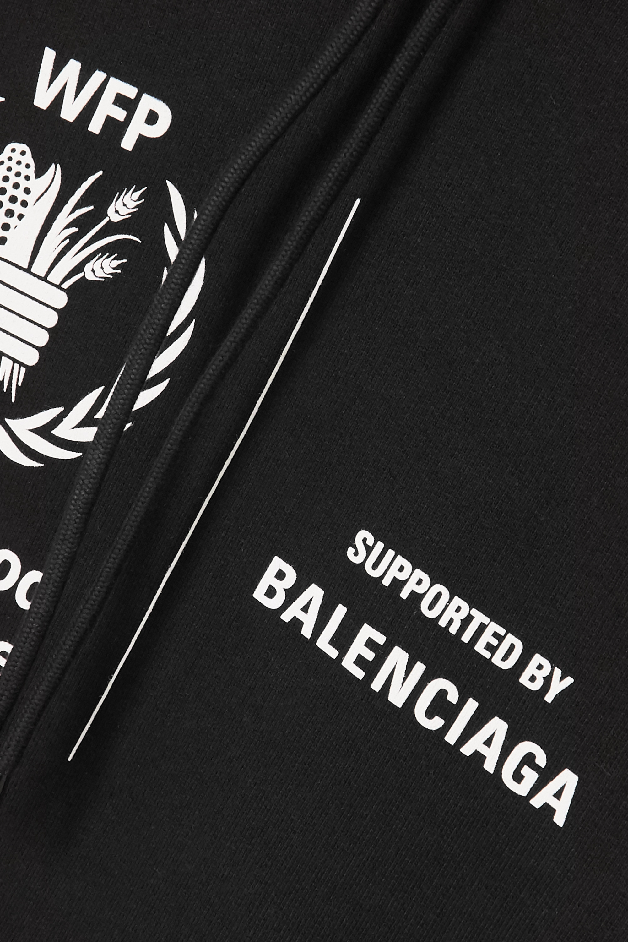 Balenciaga + World Food Programme printed cotton-jersey hoodie