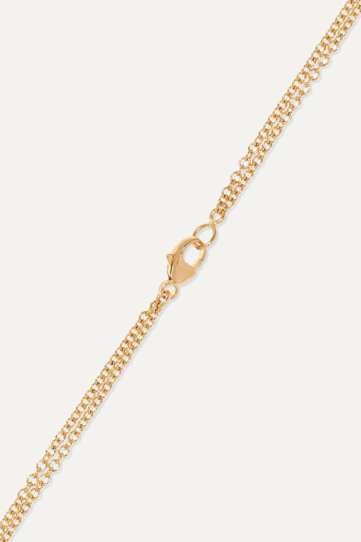 Moritz Glik 18-karat gold, sapphire crystal and diamond necklace