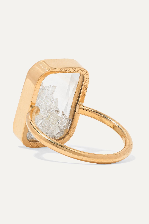 Moritz Glik 18-karat gold, sapphire crystal and diamond ring