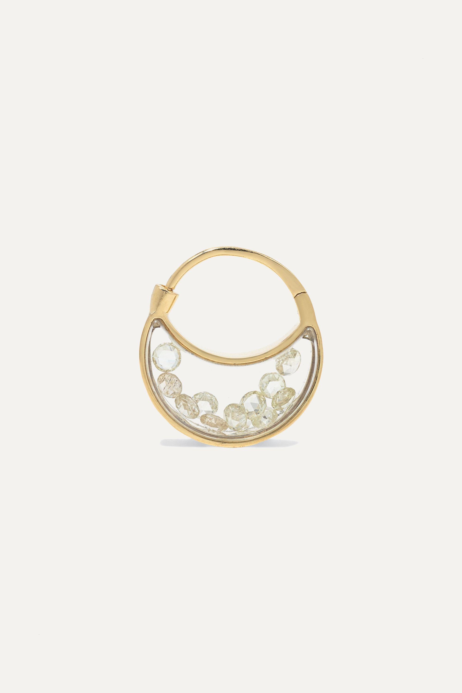 Moritz Glik 18-karat gold, sapphire crystal and diamond earrings