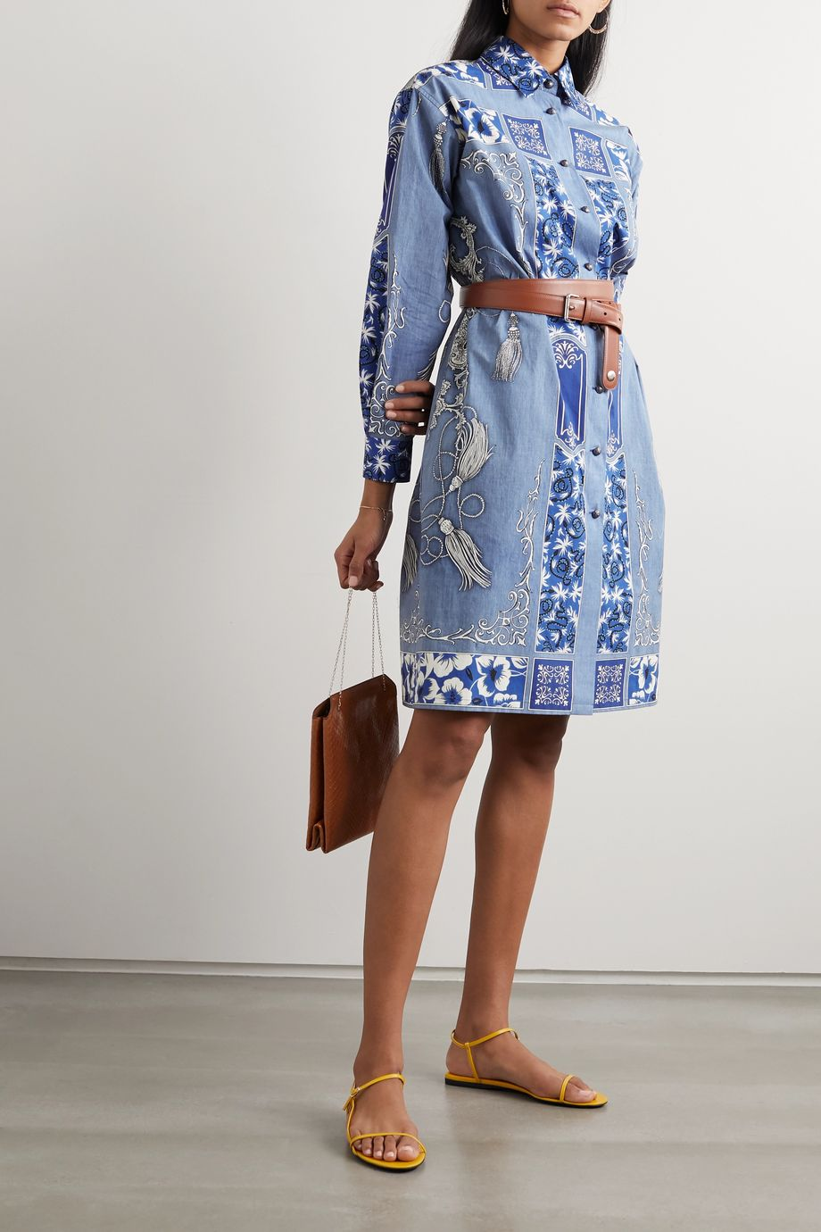 Etro Printed cotton shirt dress