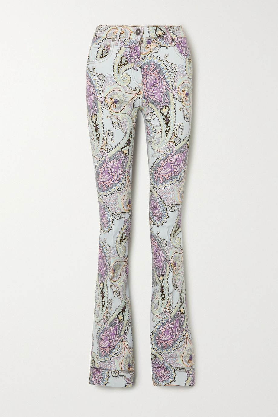 Etro Paisley-print high-rise flared jeans