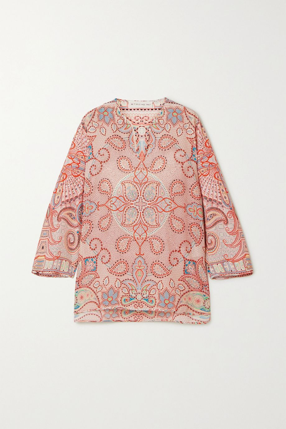 Etro Paisley-print silk top