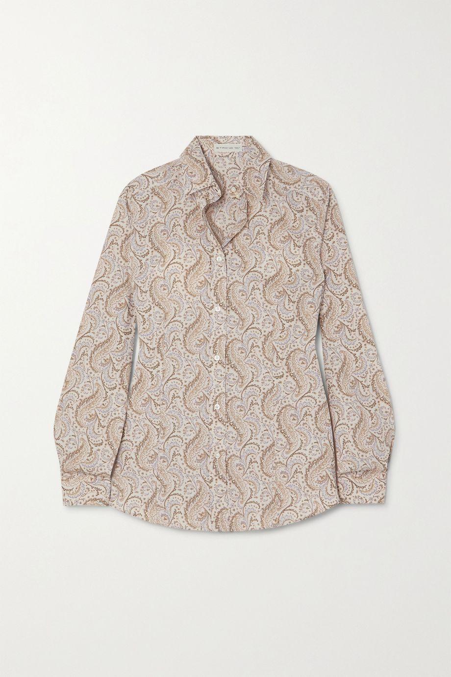 Etro Paisley-print cotton-blend Oxford shirt