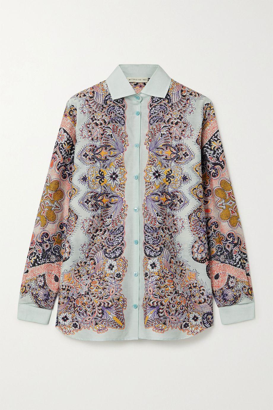 Etro Paisley-print silk and cotton-blend shirt