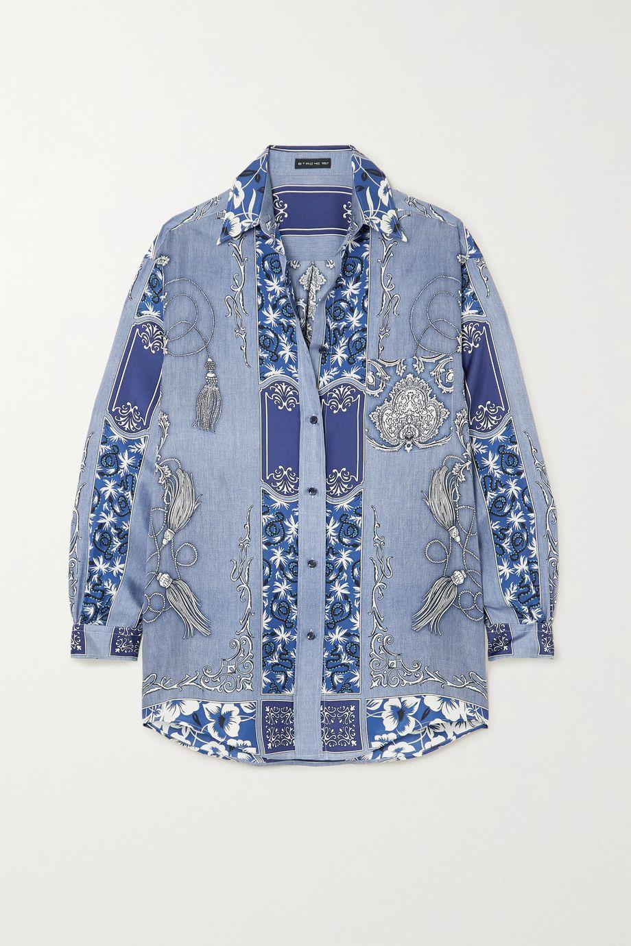 Etro Oversized paisley-print silk shirt