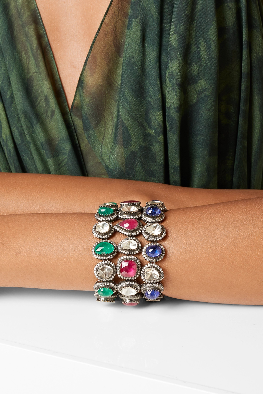 Amrapali 18-karat gold multi-stone bracelet