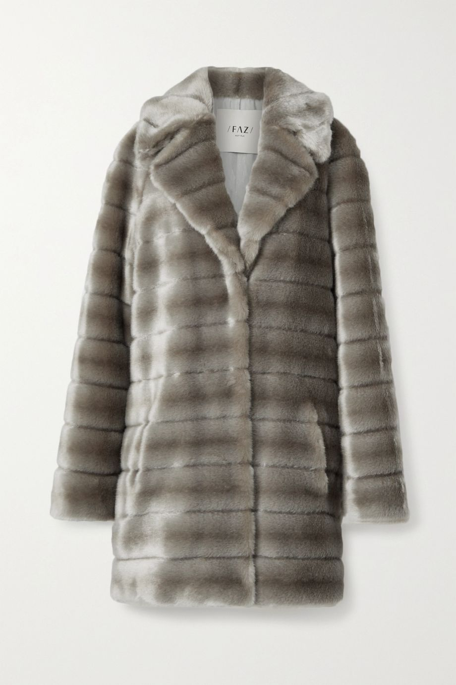 Faz Not Fur Oh My Deer Hoodless faux fur coat