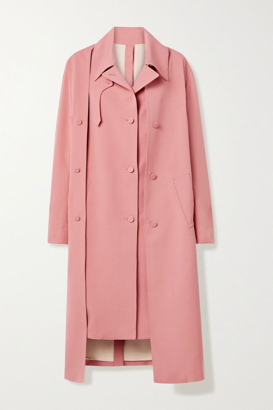 Rokh Oversized layered crepe trench coat