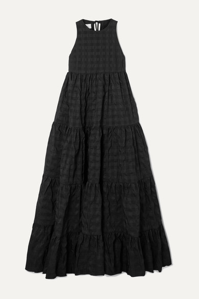 Tiered Seersucker Maxi Dress by Marques' Almeida