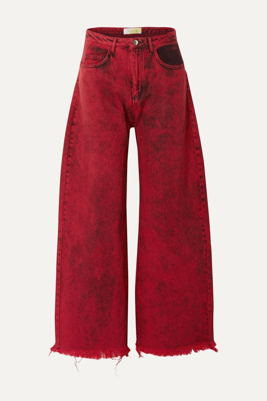 Marques' Almeida Frayed acid-wash low-rise boyfriend jeans