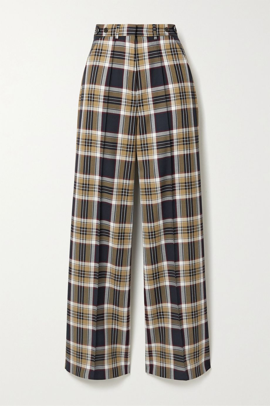 Rokh Checked twill wide-leg pants