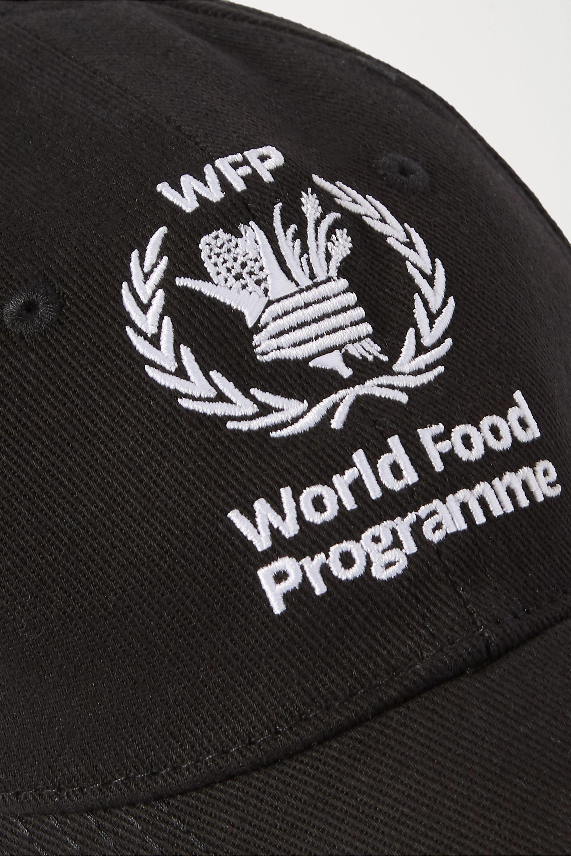Balenciaga + World Food Program embroidered cotton-twill baseball cap