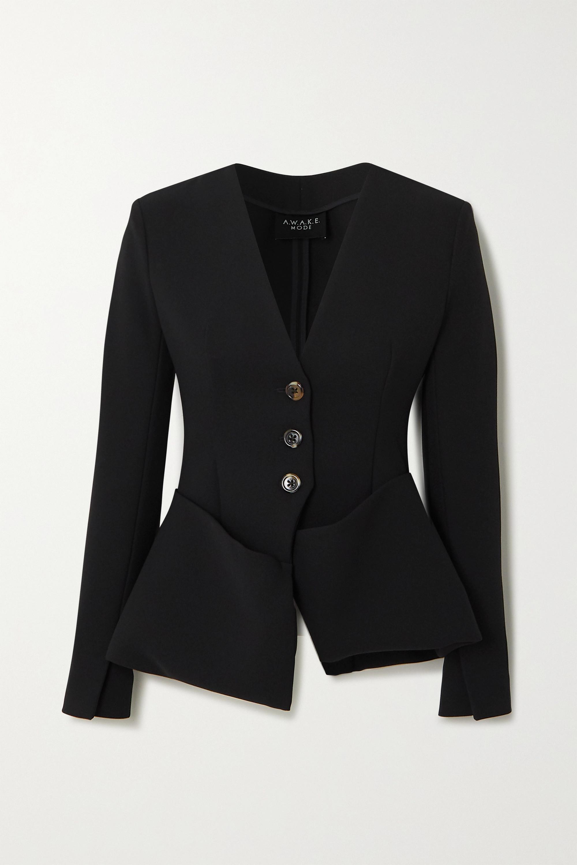 A.W.A.K.E. MODE Crepe peplum blazer