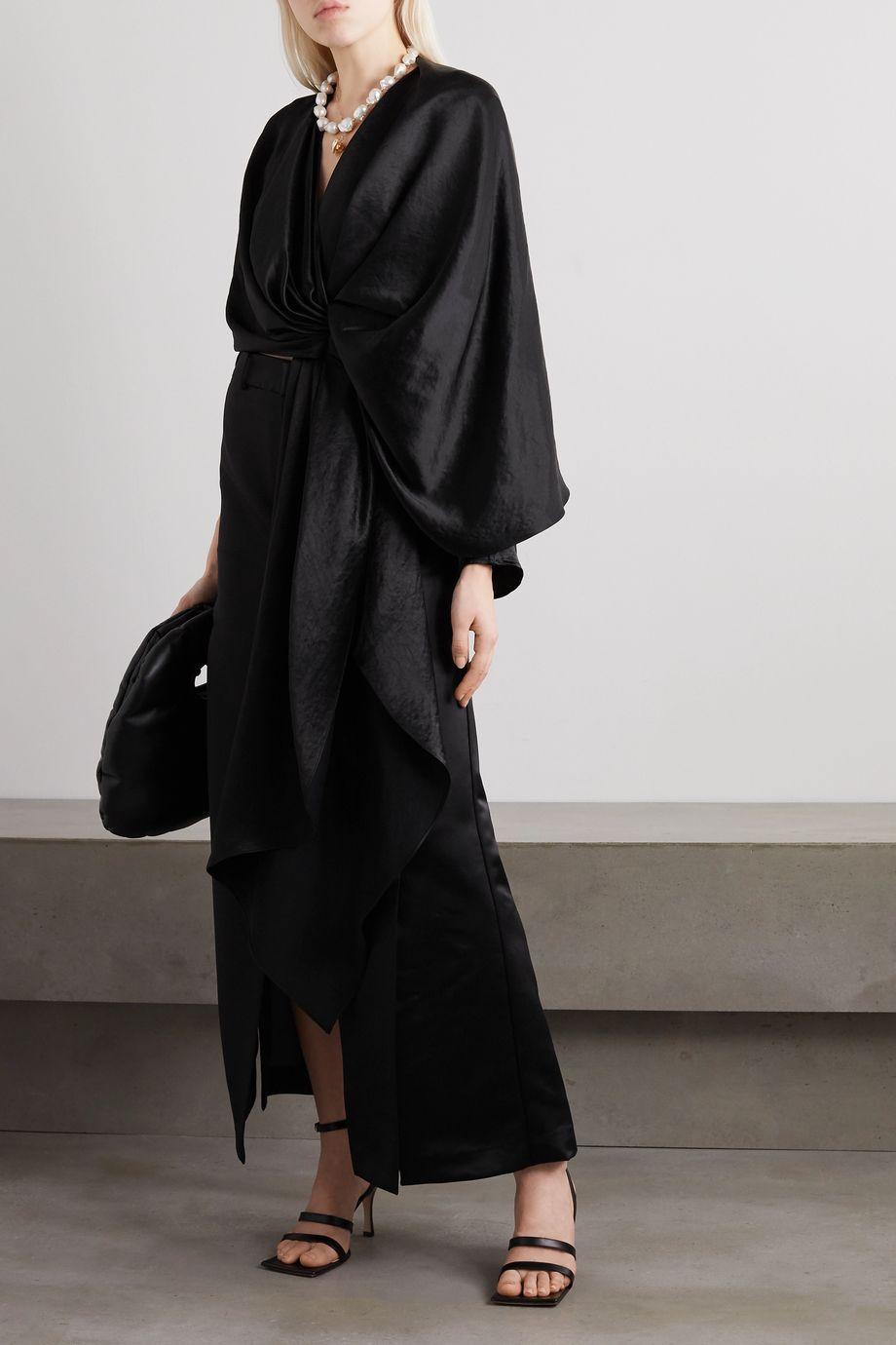 A.W.A.K.E. MODE Duchesse-satin maxi skirt