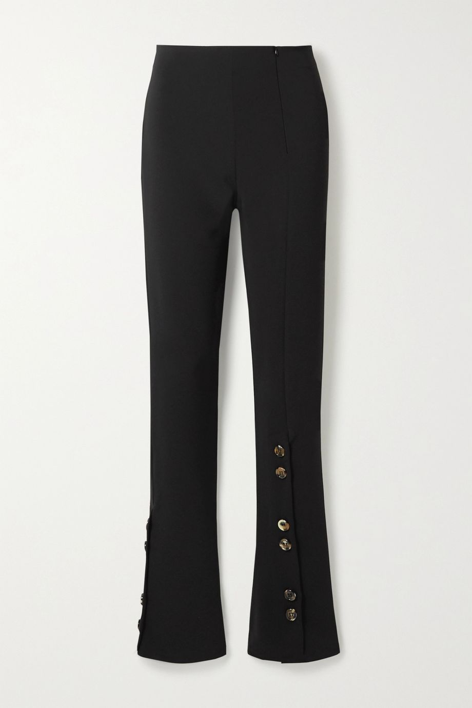 A.W.A.K.E. MODE Button-embellished crepe flared pants