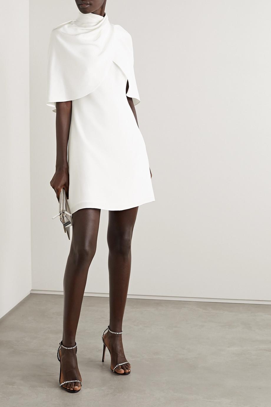 Brandon Maxwell Minikleid aus Seiden-Crêpe mit Cape-Effekt