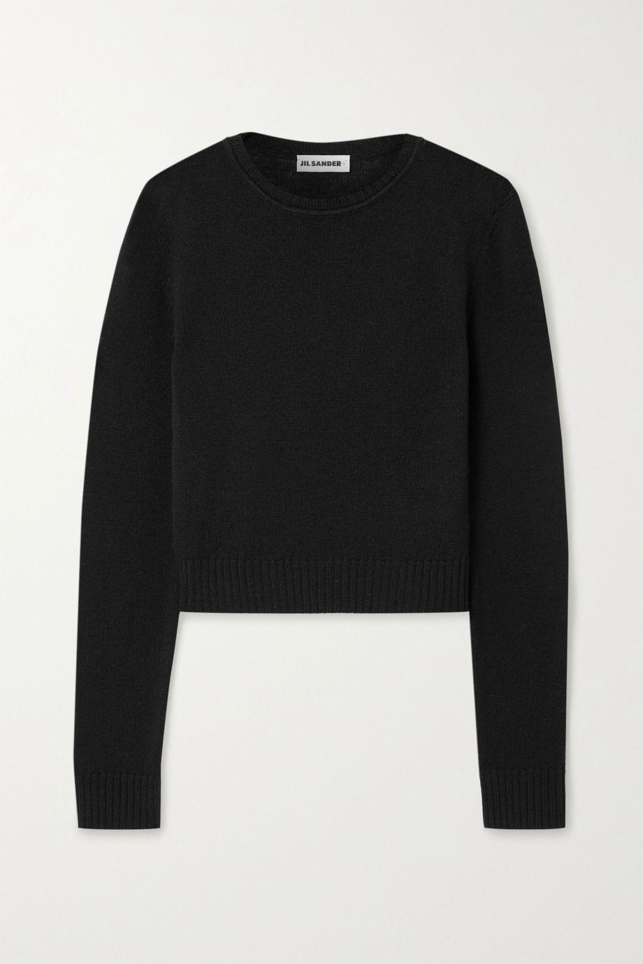 Jil Sander Cropped wool sweater