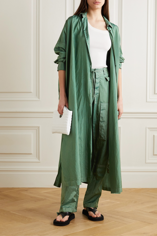 Jil Sander Hammered-satin maxi shirt dress
