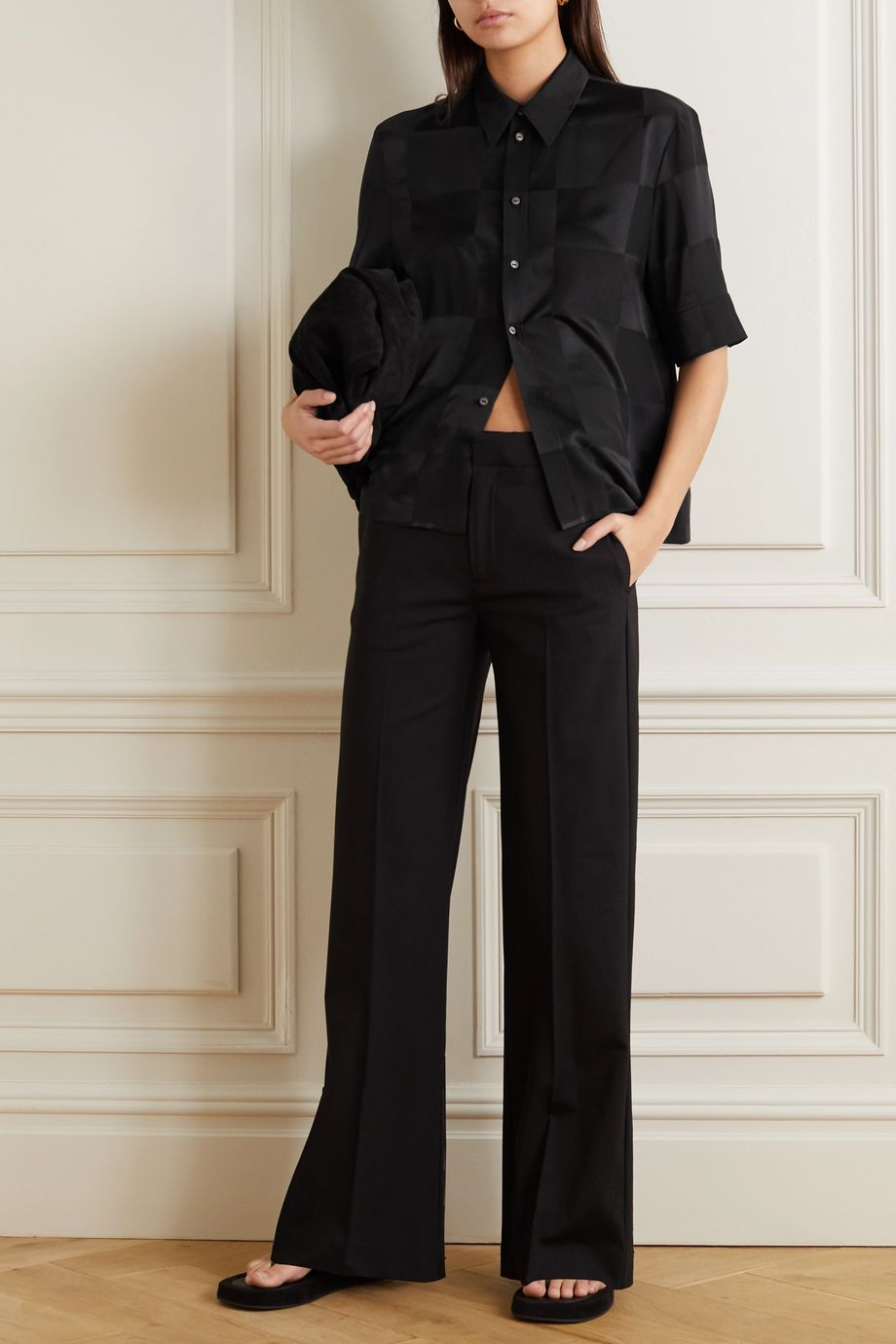 Jil Sander Silk-jacquard blouse
