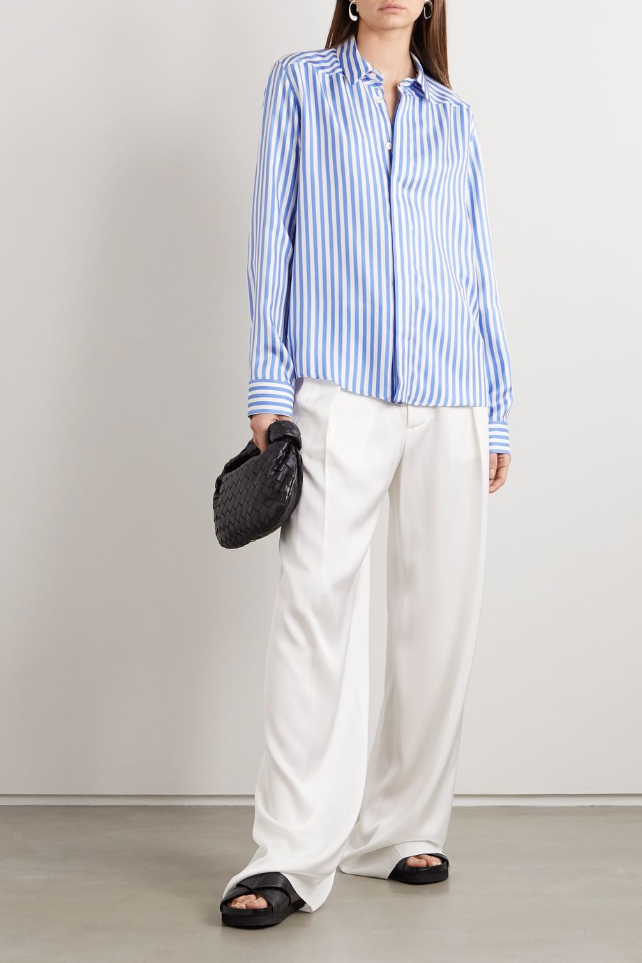 Jil Sander Striped silk-satin shirt