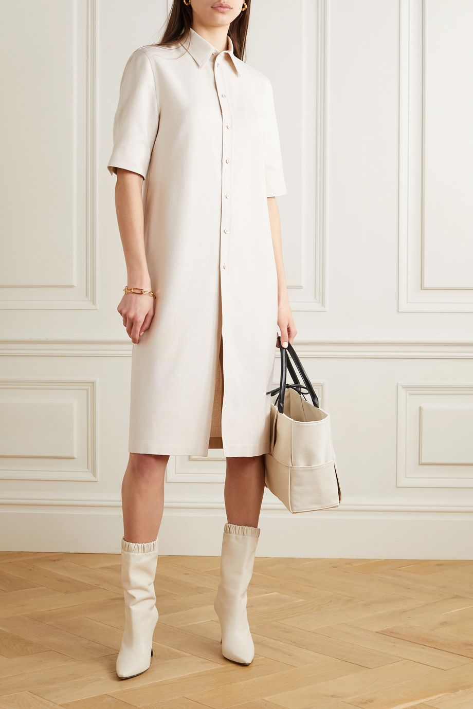 Jil Sander Canvas shirt dress