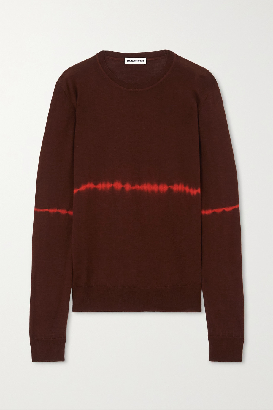 Jil Sander Tie-dyed wool and silk-blend sweater