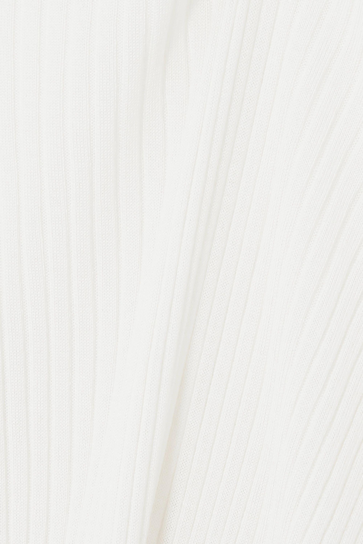 Jil Sander Pull en cachemire et soie mélangés côtelés