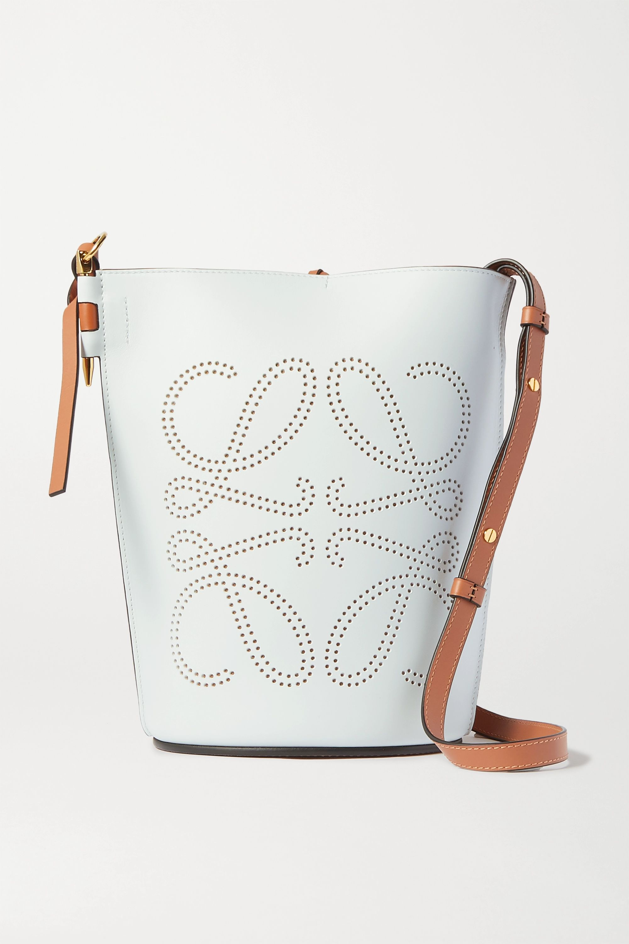 Loewe Gate perforated two-tone leather bucket bag