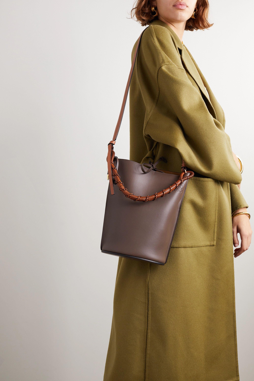 Loewe Gate woven leather bucket bag