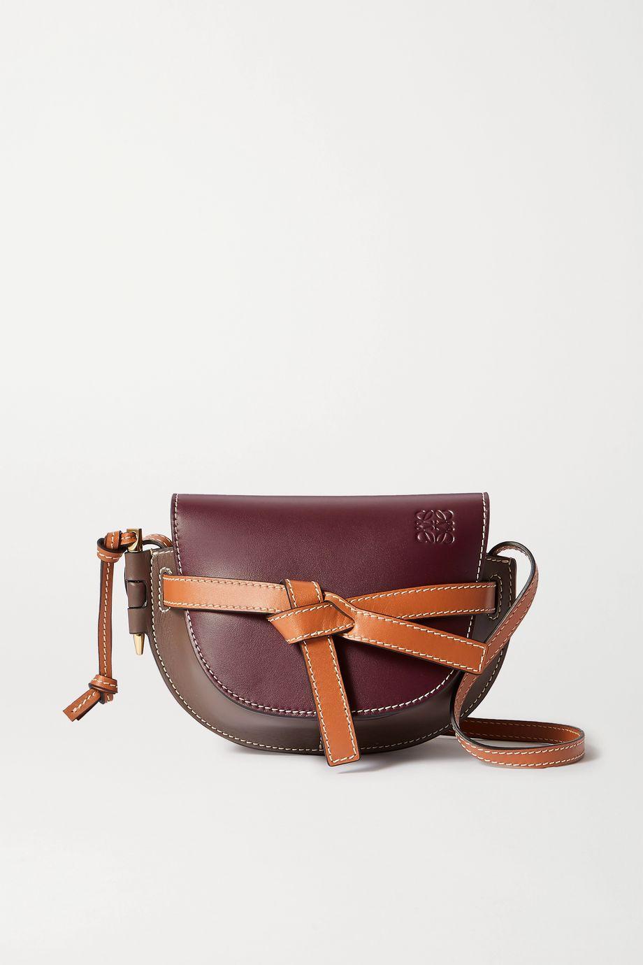 Loewe Gate mini color-block leather shoulder bag