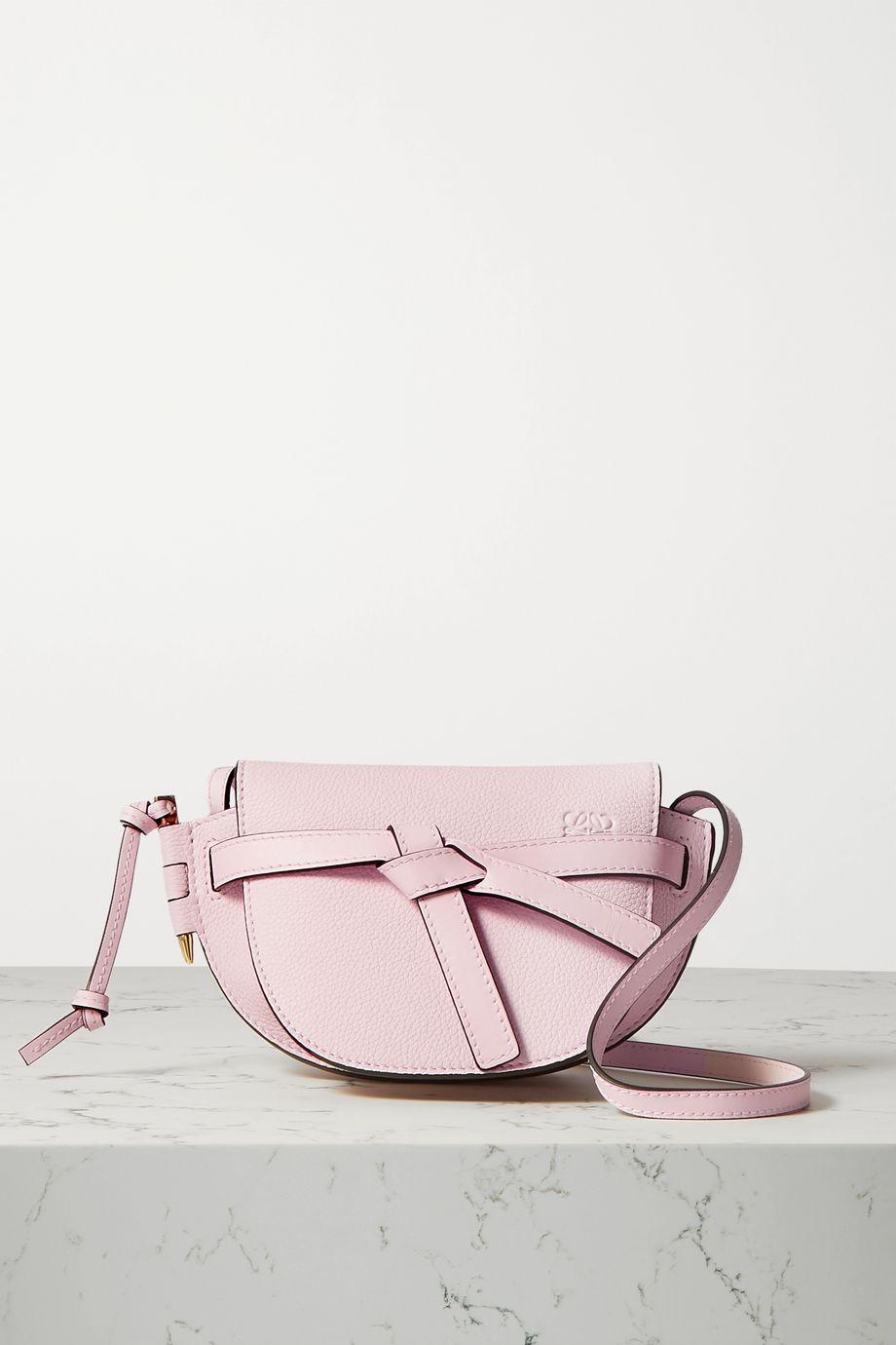Loewe Gate mini textured-leather shoulder bag
