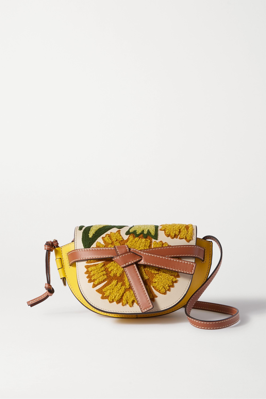 Loewe Gate mini embroidered leather shoulder bag
