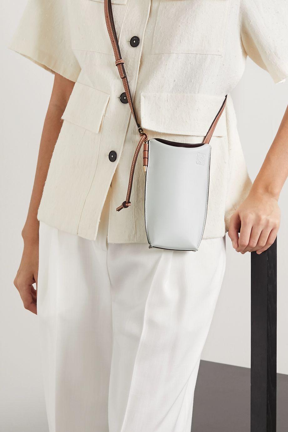 Loewe Gate color-block leather shoulder bag