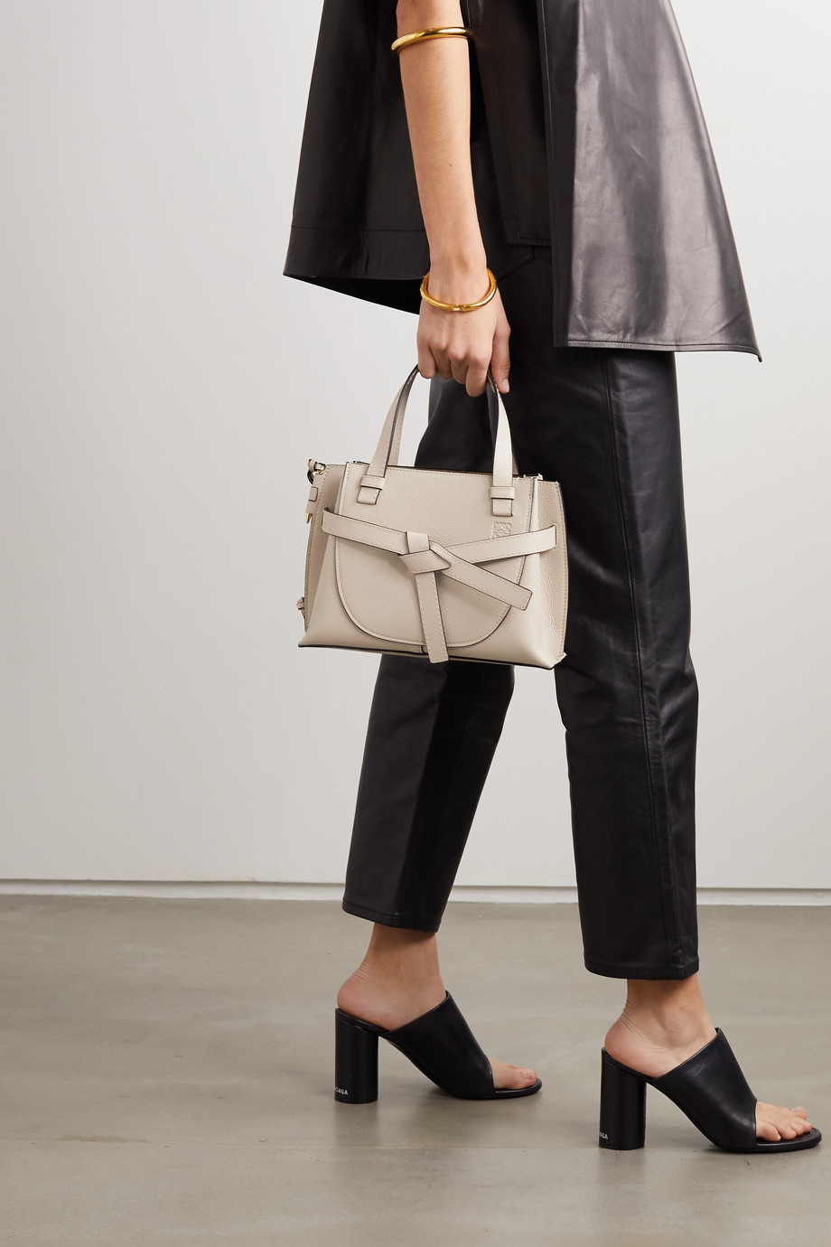 Loewe Gate mini textured-leather tote