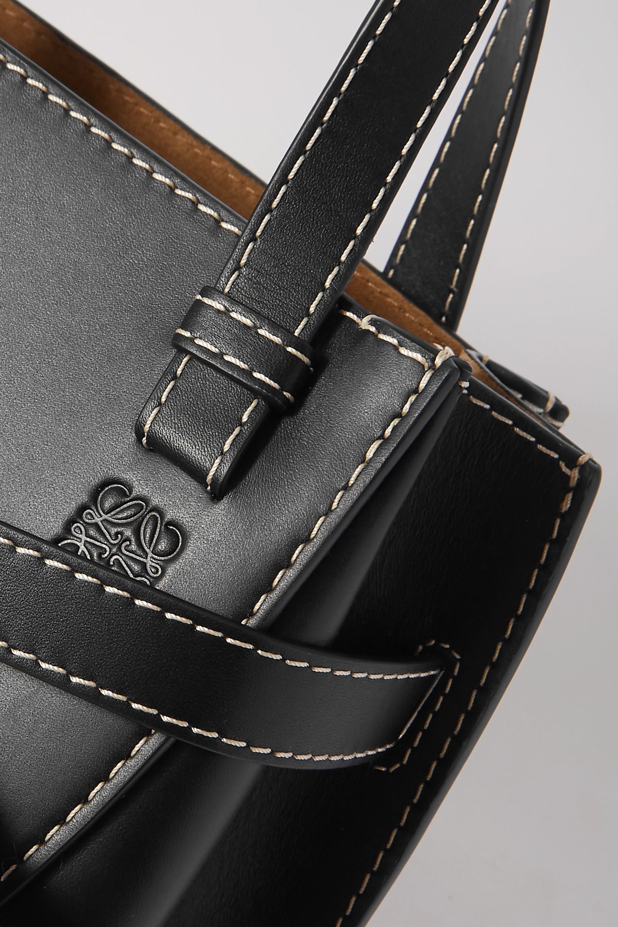 Loewe Gate mini topstiched leather tote