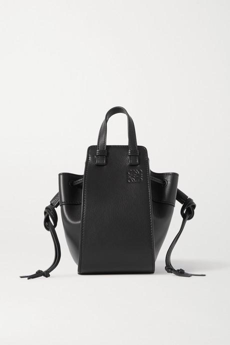 Black Hammock mini leather shoulder bag   Loewe 4KgBb5
