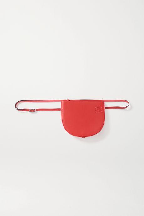 Red Heel two-tone leather shoulder bag | Loewe VdzK7K