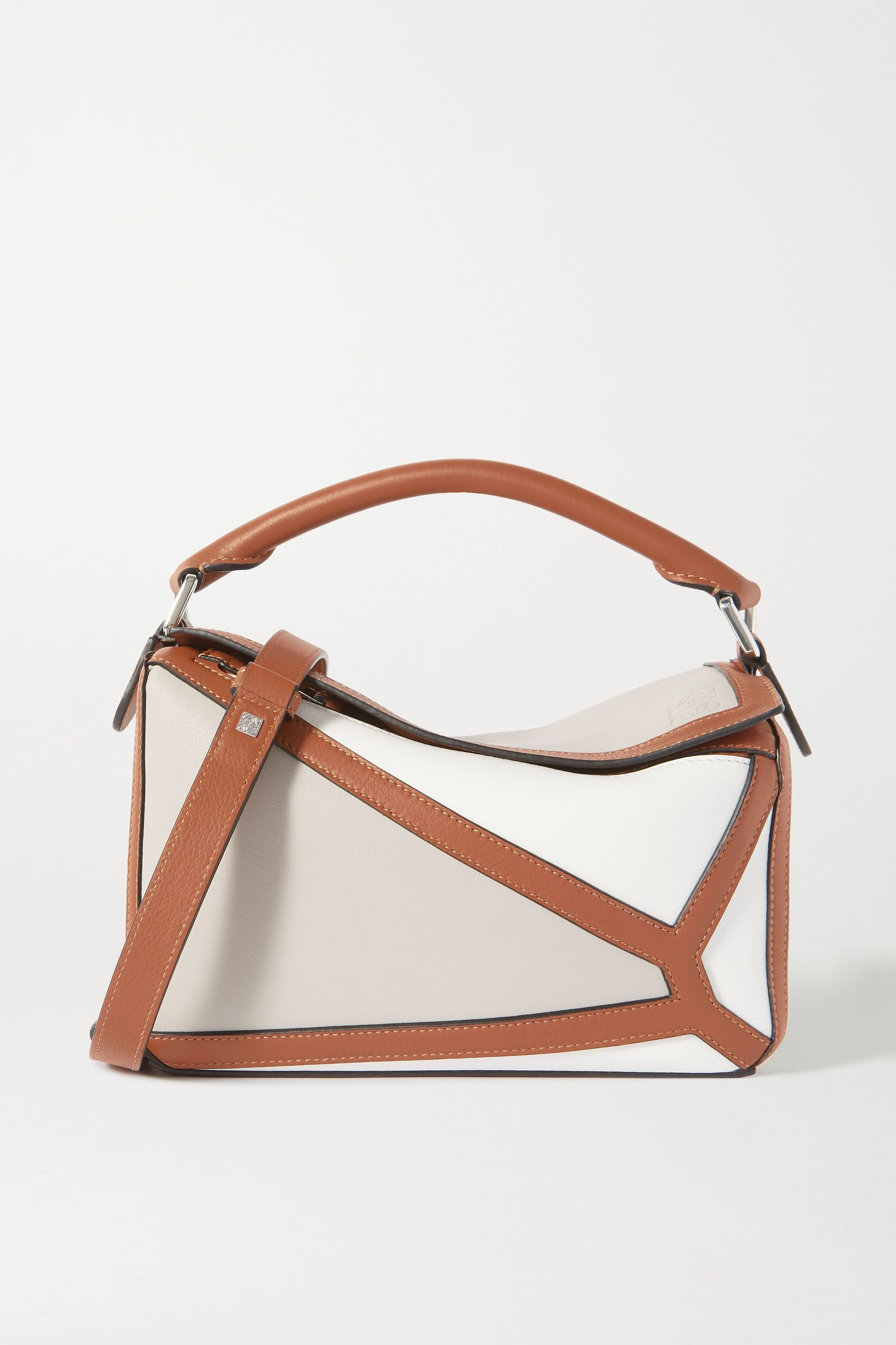 Loewe Puzzle small two-tone leather shoulder bag