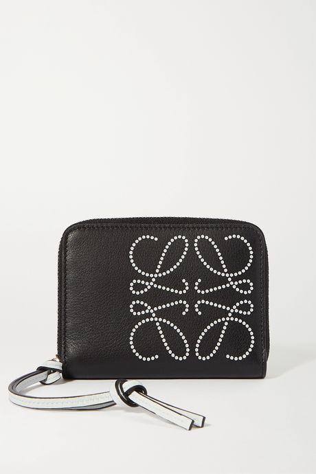 Black Printed textured-leather wallet | Loewe YiJPke
