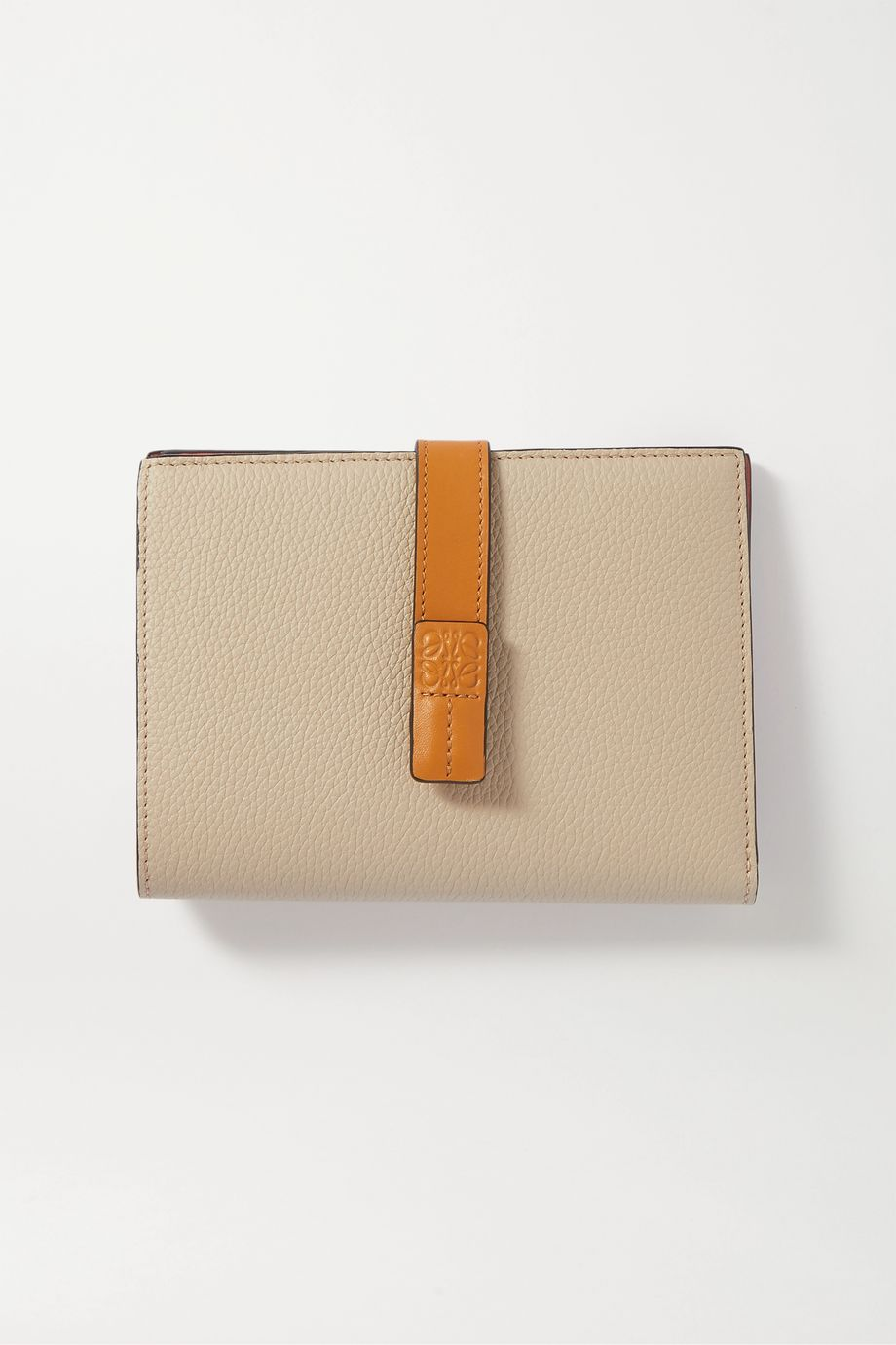 Loewe Vertical small textured-leather wallet