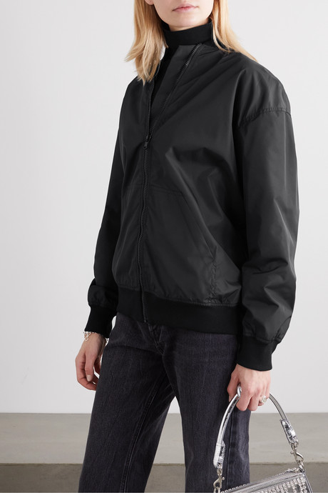 Teddy embellished shell bomber jacket