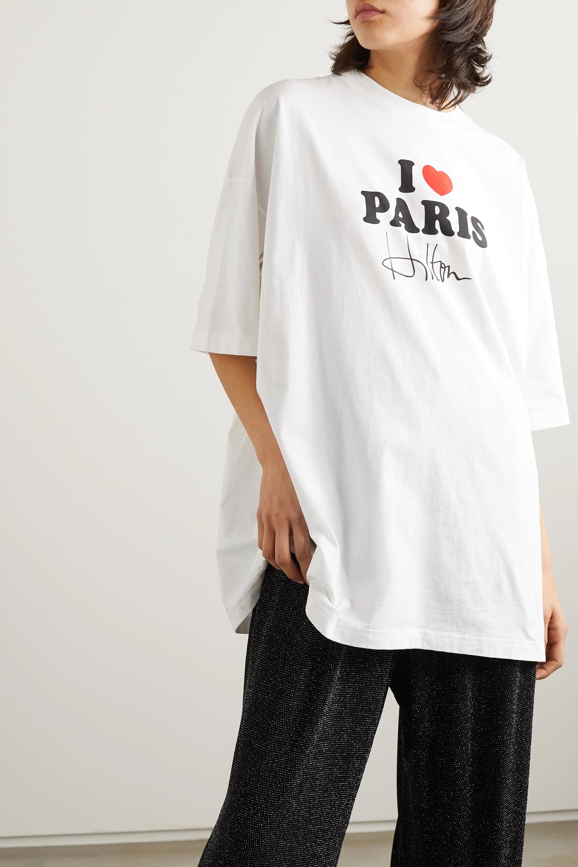 Vetements Oversized printed cotton-jersey T-shirt