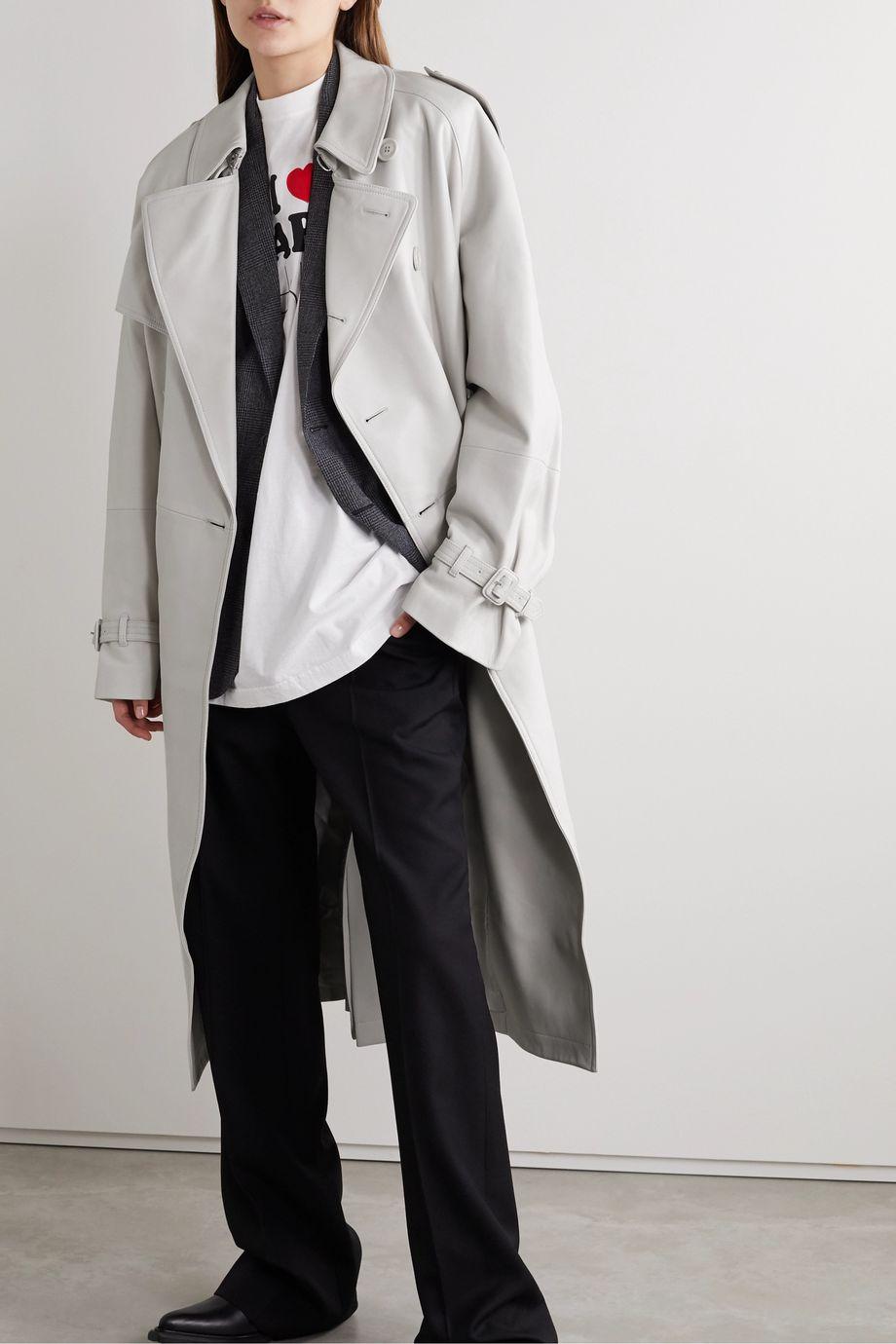 Vetements Oversized leather trench coat