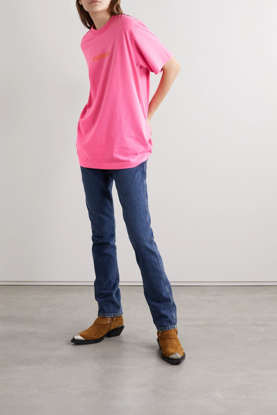 Vetements Oversized appliquéd jersey T-shirt