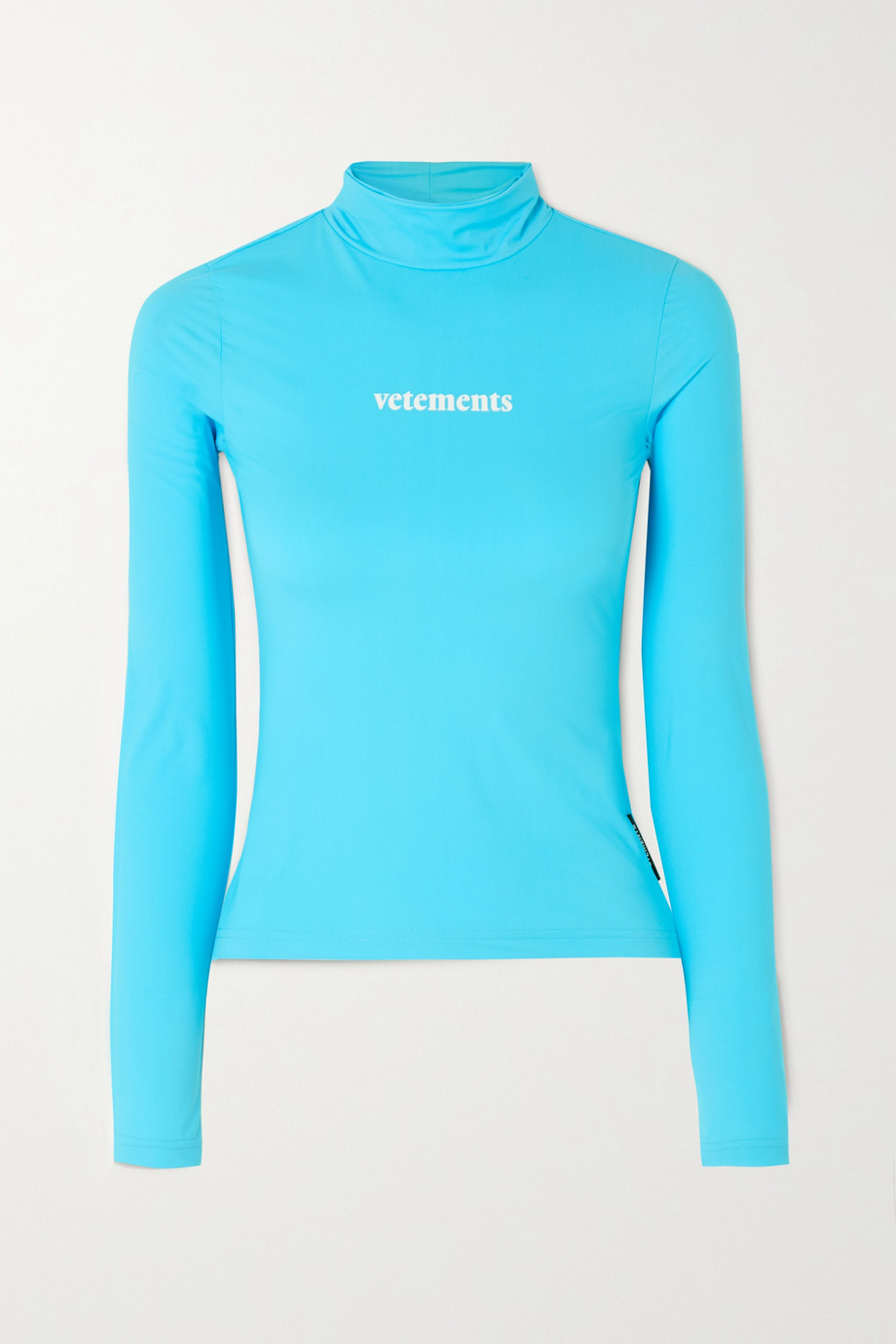 Vetements Printed stretch-jersey turtleneck top