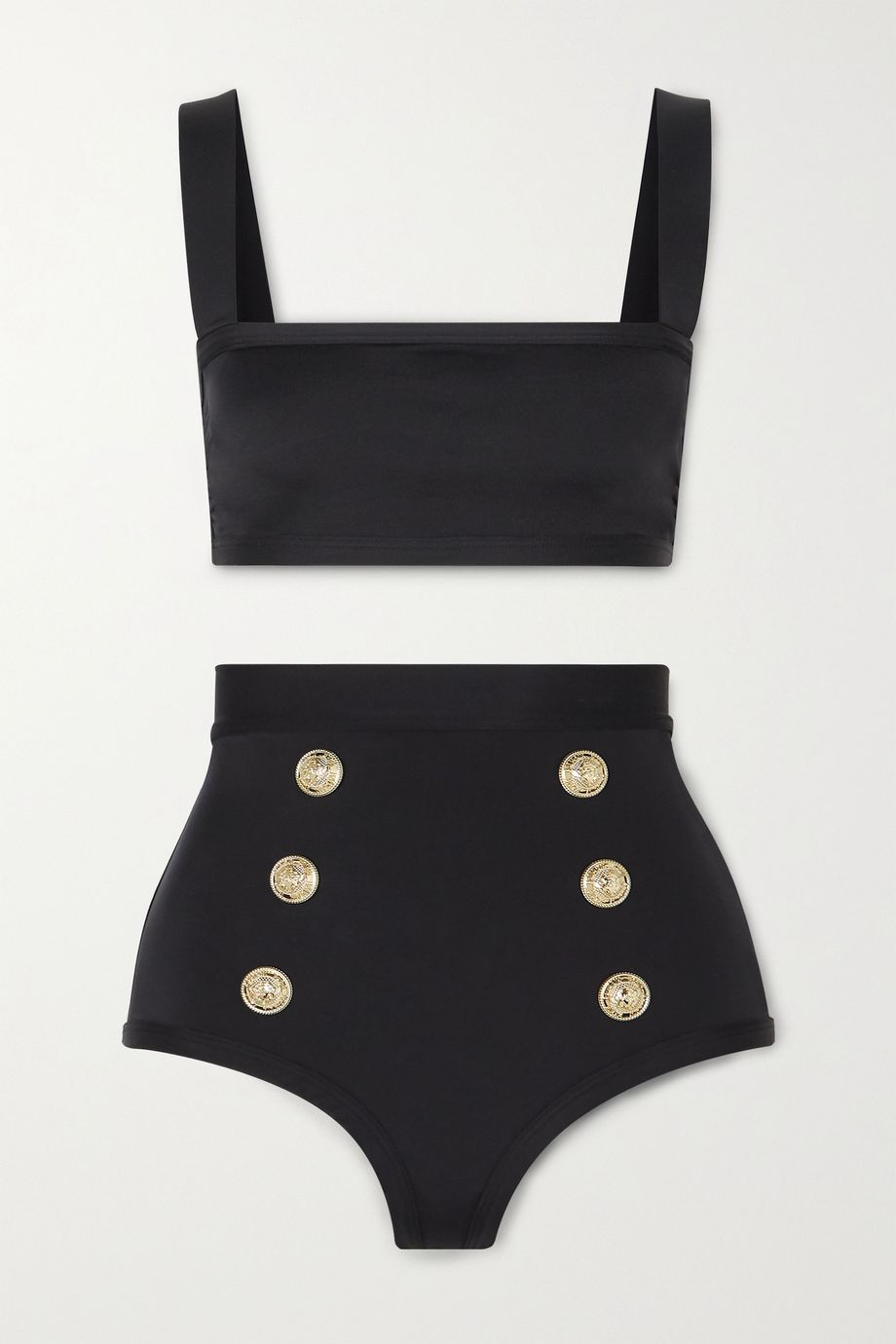 Balmain Button-embellished bikini