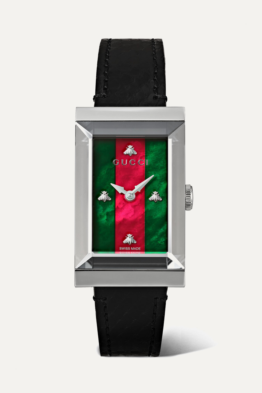 Gucci G-Frame 21mm stainless steel, ayers and mother-of-pearl watch