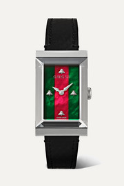 G-Frame 21mm stainless steel, ayers and mother-of-pearl watch