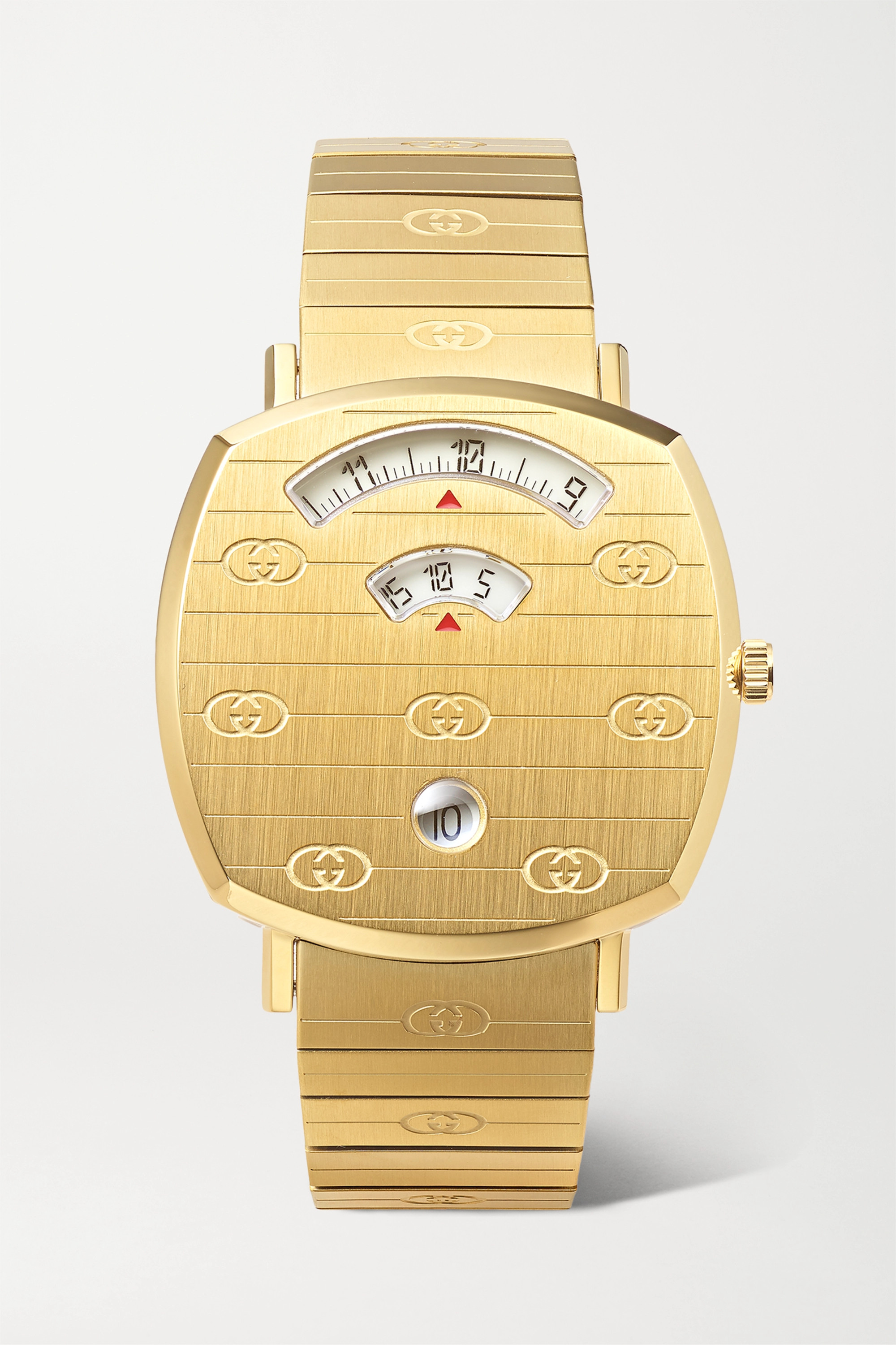Gucci Grip 35mm gold PVD-plated stainless steel watch
